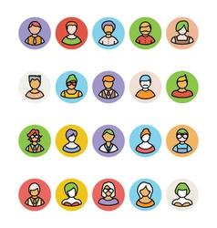Avatar icons 5 vector