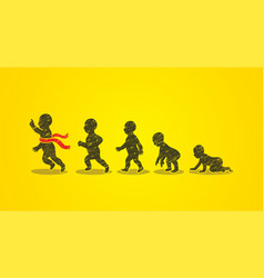 Baby running steps graphic vector