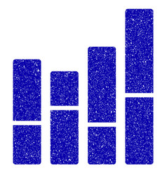 Bar chart icon grunge watermark vector