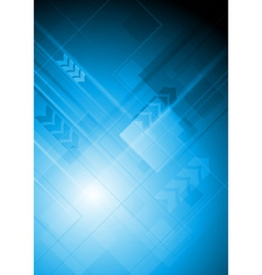 Blue technical background with arrows vector image