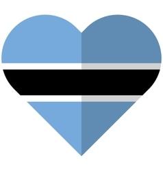 Botswana flat heart flag vector