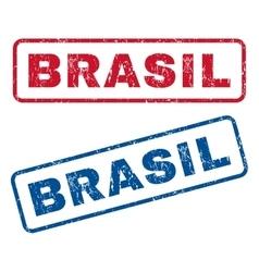 Brasil rubber stamps vector