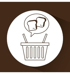 Chopped bread basket vector