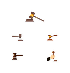 Flat icon court set of legal court law and other vector