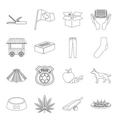 Food history travel and other web icon in vector