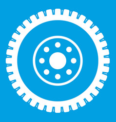 gear wheel icon white vector image