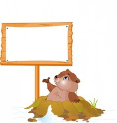 Groundhog day billboard vector