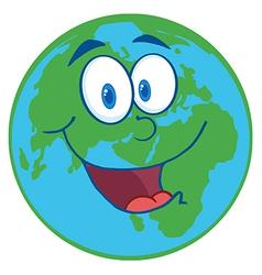 Happy Earht Cartoon Character vector image