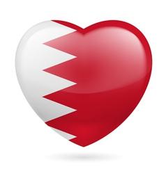 Heart icon of bahrain vector