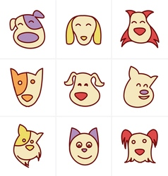 Icons style icons style fun dog icon vector