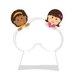 Kids nutrition design vector