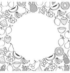 natural and fresh fruits vector image
