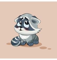 Raccoon cub confused vector