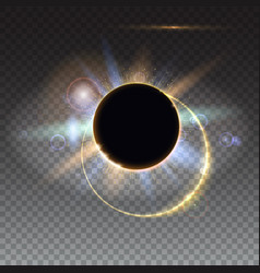 Solar eclipse abstract light-rays of light vector