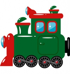 toy locomotive vector image