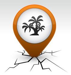 Tropical orange icon in crack vector