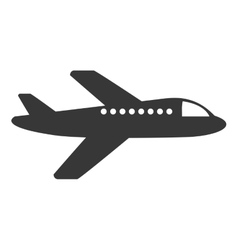 Airplane fly isolated icon vector