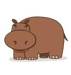 Cartoon Hippo vector image