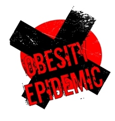 Obesity epidemic rubber stamp vector