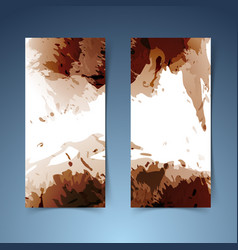 Brown vertical modern banner paint splatter vector