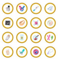 pregnancy cartoon icon circle vector image