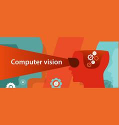 Computer vision technology digital vector