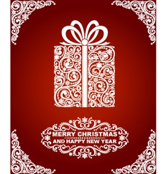 Abstract christmas gift vector