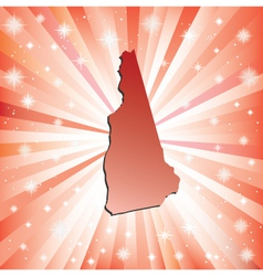 Red New Hampshire vector image