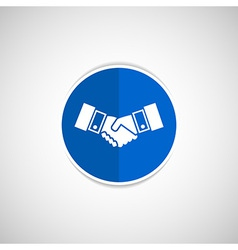 Handshake icon hake meeting business vector