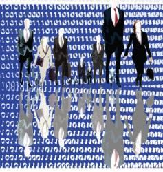 binary business vector image