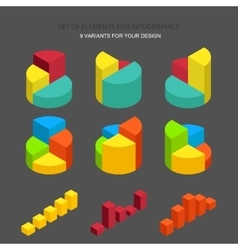 Set of element for infographics vector