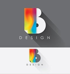 Letter b colorful design element for business vector