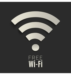 Wi-fi icon on dark background vector