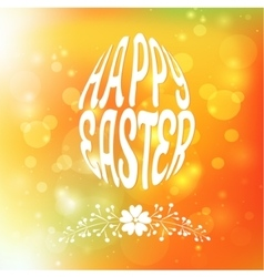 Happy easter greeting card blurred background vector