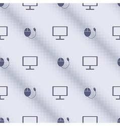 Seamless pattern blue symmetrical bg with pc vector