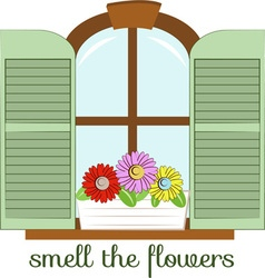 Smell the flowers vector
