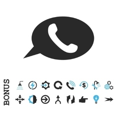 Phone message flat icon with bonus vector