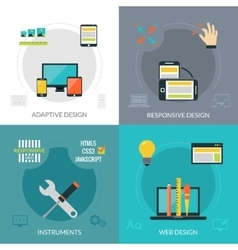 Adaptive responsive web design vector