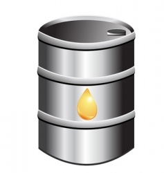 barrel of petrol vector image vector image