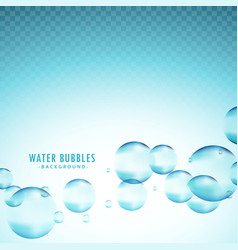 Blue water bubbles background vector
