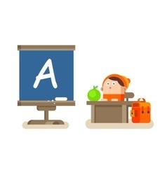 Boy sitting at a Desk vector image