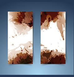 Brown vertical modern banner paint splatter vector