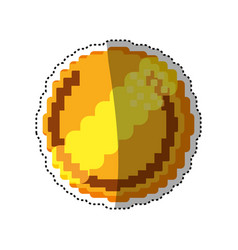 coin pixelated videogame vector image