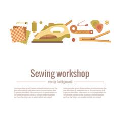 colorful sewing workshop vector image vector image