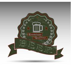 dark beer symbol vector image
