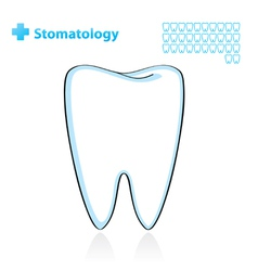Dental background with tooth vector