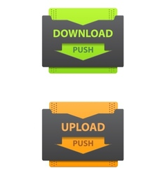 Download and upload icons vector image