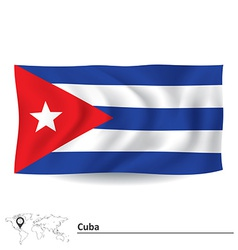 Flag of Cuba vector image vector image