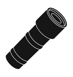 flashlight icon in black style isolated on white vector image