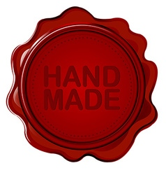 Hand made wax seal vector image